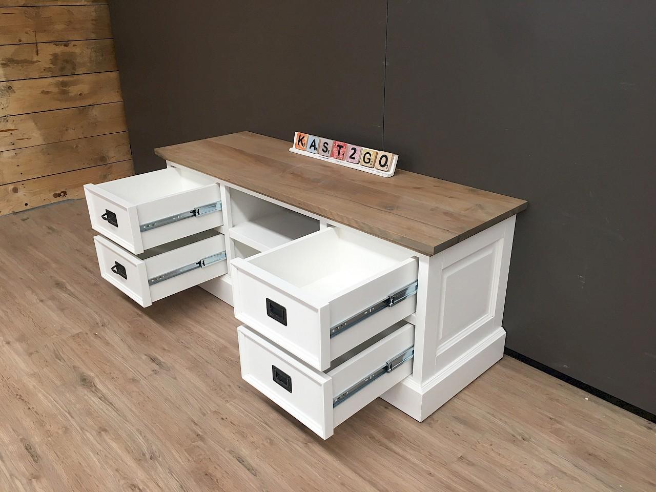 Gerookt Eiken Meubels : Tv meubel finn wit eiken 135 kast2go