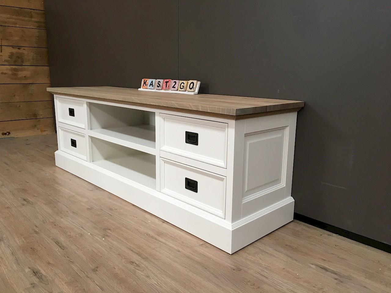 Gerookt Eiken Meubels : Tv meubel finn wit eiken kast go