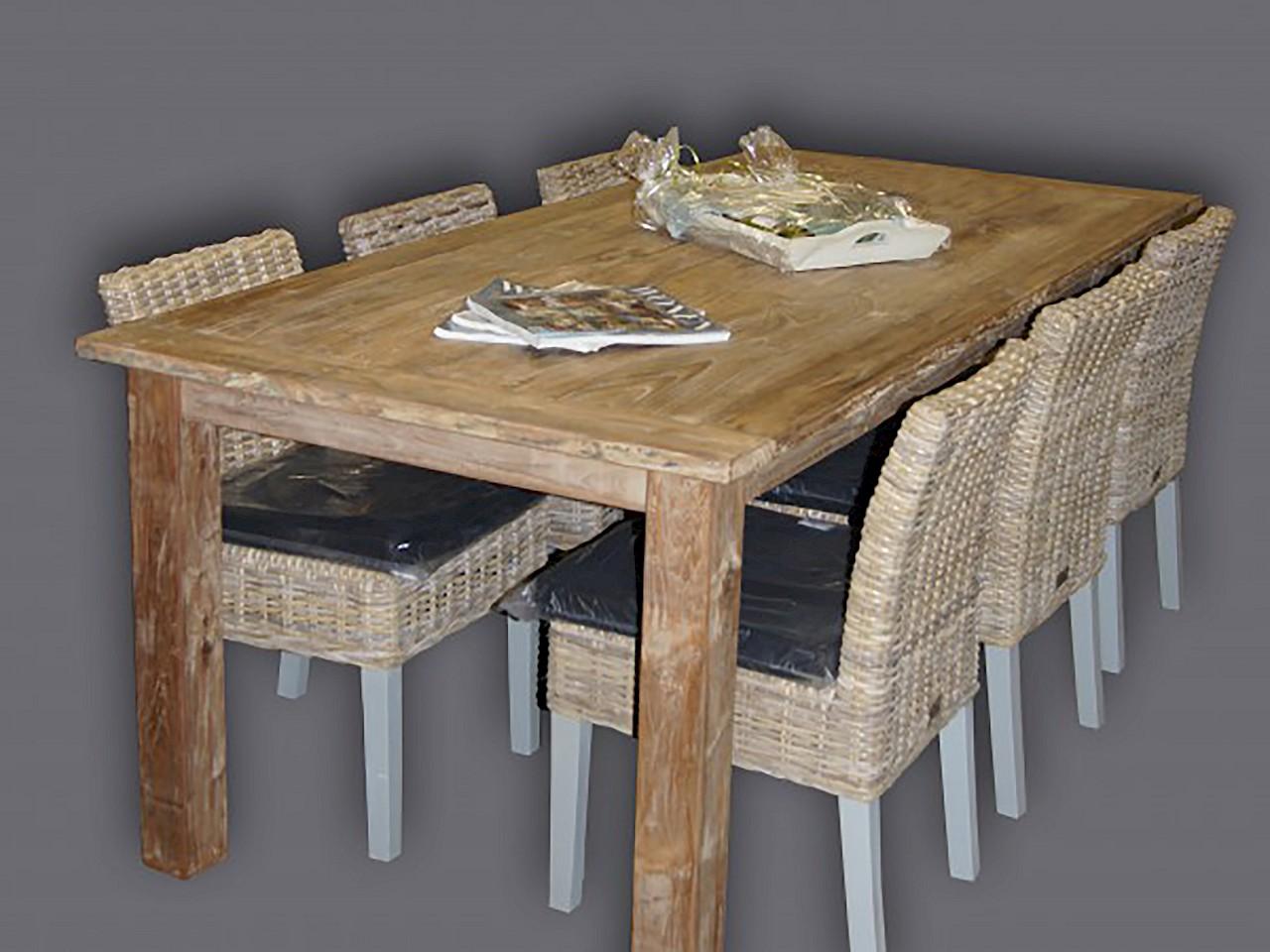 esstisch altes teakholz buffetschr nk2go. Black Bedroom Furniture Sets. Home Design Ideas